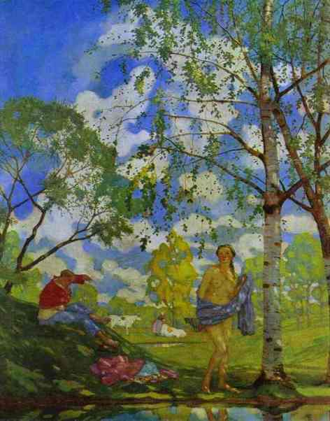 Constantin Somov. Summer Morning. 1920. Oil on canvas. The Russian Museum, St. Petersburg, Russia.