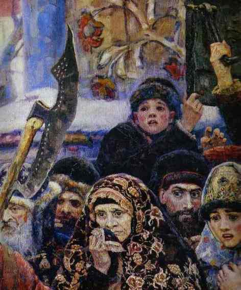 Vasily Surikov. The Boyarynia Morozova. Detail. 1887. Oil on canvas. The Tretyakov Gallery, Moscow, Russia.