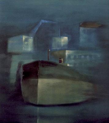 Γιάννης Σταύρου, Νυχτερινό, λάδι σε καμβά, 110X120 cm