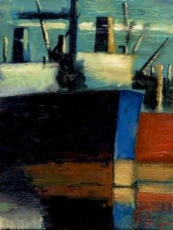 Γιάννης Σταύρου, Bleu blanc rouge, λάδι σε καμβά, 30Χ40 cm