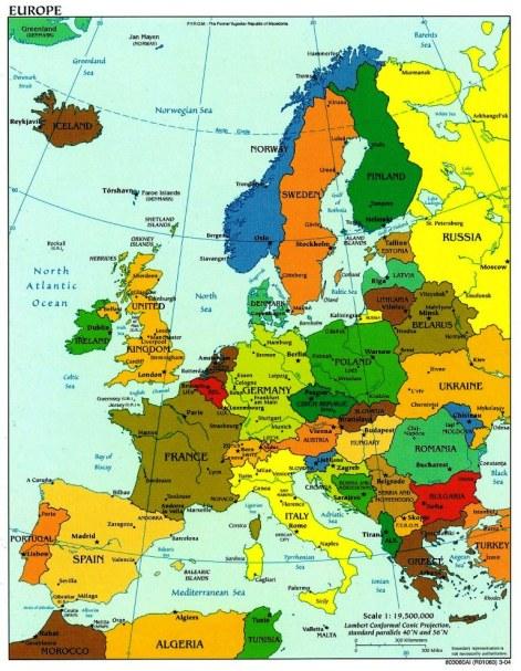 Χάρτης της Ευρώπης**