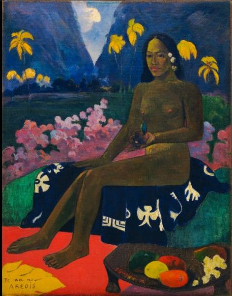 Te aa no areois 1892 Paul Gauguin  Oil on burlap Height : 92.10 cm Width : 72.10 cm