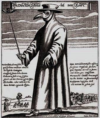 Ο «Ιατρός της Ρώμης» είναι χαλκογραφία του 1656 (J. Columbina). Η ενδυμασία που απεικονίζεται χρησίμευε κατά την άποψη των ιατρών της εποχής εκείνης στην προστασία από την επιδημία.