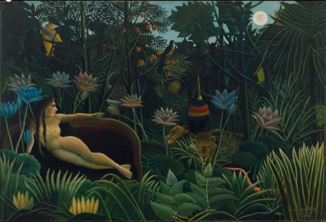 The Dream Le Rêve 1910 Henri Rousseau  Oil on canvas Height : 204.50 cm Width : 298.50 cm
